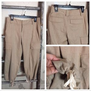 Banana Republic breeches cropped wool pant 0